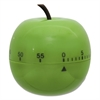 "Baumgartens Shaped Timer, 4 1/2"" dia., Green Apple"