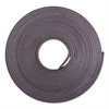 "ZEUS Adhesive-Backed Magnetic Tape, Black, 1/2"" x 10ft, Roll"