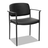 Alera Alera Sorrento Series Stacking Guest Chair, Faux Leather, Black, 2/Carton