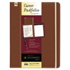 Career Pad Folio, 10 1/4 x 13 x 3/4, Leatherette, Brown