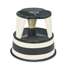 "Kik-Step Steel Step Stool, 350 lb cap, 16"" dia. x 14 1/4h, Sand"