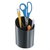 Recycled Big Pencil Cup, Plastic, 4 1/4 dia. x 5 3/4, Black