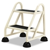 "Two-Step Stop-Step Aluminum Ladder, 23"" High, Beige"