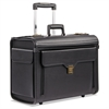 Bugatti Bond Street Collection Catalog Case on Wheels, Koskin, 19 x 9 x 15-1/2, Black