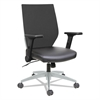 Alera Alera EB-T Series Syncho Mid-Back Flip-Arm Chair, Black/Gray