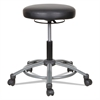 Alera Height-Adjustable Utility Stool, Black