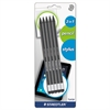 Staedtler Wopex Pencil with Stylus, Green/Black, 5/Pack