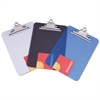 "Universal Plastic Clipboard with High Capacity Clip, 1"" Capacity, Holds 8 1/2 x 12, Smoke"