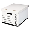 Universal Lift-Off Lid File Storage Box, Legal, Fiberboard, White, 12/Carton