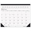 House of Doolittle Recycled Two-Color Academic 14-Month Desk Pad Calendar, 22 x 17, 2016-2017