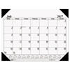 Recycled Economy 14-Month Academic Desk Pad Calendar, 22 x 17, 2017-2018