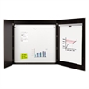 MasterVision Conference Cabinet, Porcelain Magnetic, Dry Erase, 48 x 48, Ebony