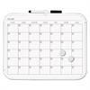 Magnetic Dry Erase Calendar Board, 11 x 14, White Plastic Frame
