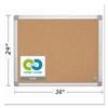MasterVision Earth Cork Board, 24 x 36, Aluminum Frame