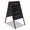 Magnetic Wet Erase Board, 27x34, Black, Cherry Wood Frame