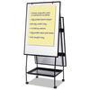 MasterVision Creation Station Magnetic Dry Erase Board, 29 1/2 x 74 7/8, Black Frame