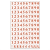 "Interchangeable Magnetic Characters, Numbers, Red, 3/4""h"