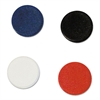 "MasterVision Interchangeable Magnetic Characters, Circles, Assorted, 3/4"" Dia, 10/Pack"