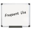 Value Lacquered Steel Magnetic Dry Erase Board, 24 x 36, White, Aluminum Frame