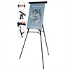 "MasterVision Telescoping Tripod Display Easel, Adjusts 35"" to 64"" High, Metal, Black"