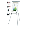 "MasterVision Telescoping Tripod Display Easel, Adjusts 38"" to 69"" High, Metal, Silver"