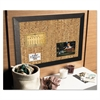 MasterVision Natural Cork Bulletin Board, 36x24, Cork/Black