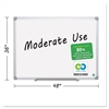 MasterVision Earth Easy-Clean Dry Erase Board, White/Silver, 36x48