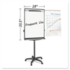 "Tripod Extension Bar Magnetic Dry-Erase Easel, 69"" to 78"" High, Black/Silver"