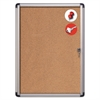 MasterVision Slim-Line Enclosed Cork Bulletin Board, 28 x 38, Aluminum Case