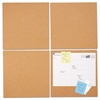 Universal Cork Tile Panels, Brown, 12 x 12, 4/Pack