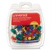 "Universal Colored Push Pins, Plastic, Rainbow, 3/8"", 100/Pack"