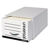 Heavy-Duty Storage Box Drawer, Legal, 17 1/4 x 25 1/2 x 11, White, 6/Carton