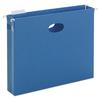 "Smead 2"" Capacity Closed Side Flexible Hanging File Pockets, Letter, Sky Blue, 25/Box"