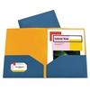 Two-Tone Two-Pocket Super Heavyweight Poly Portfolio, Letter, Blue/Orange, 6/PK