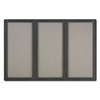 Enclosed Fabric-Cork Board, 72 x 48, Gray Surface, Graphite Aluminum Frame