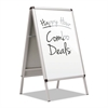 A-Frame Sign with Total Erase Surface, Aluminum, 28 1/2w x 42h, Silver