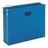 "Smead 3"" Capacity Closed Side Flexible Hanging File Pockets, Letter, Sky Blue, 25/Box"