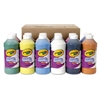 Washable Paint, Assorted, 16 oz Bottle, 12 per Set