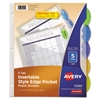 Avery Style Edge Insertable Dividers with Pocket, Multicolor, 5-Tab, 11 1/4 x 9 1/4