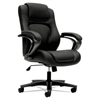 basyx VL402 Series Executive High-Back Chair, Black Vinyl