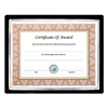 NuDell EZ Mount II Document Frame, Plastic, 8 x 10, Black/Silver