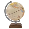 "Ivory Desk Globe, 5 3/5"" Diameter, Walnut Base/Silver Arm"