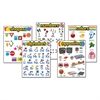 "Learning Chart Combo Packs, Kindergaten Basics, 18"" x 27 1/4"", 5/Set"