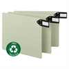 Smead Green End Tab Guides, Blank, Horizontal Metal Tabs, Pressboard, Letter, 50/Box