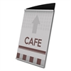Interior Image Sign Holder, Portrait, 5 x 7 Insert, Black/Silver