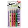 Clearview Pen-Style Highlighter, Fine Chisel Tip, Assorted Ink, 4/Pack