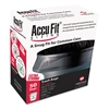 "AccuFit Can Liners, 55gal, 1.3mil, Black, 40"" x 53"", 50/Box"
