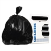 Can Liners, Prime Resin, 33 x 44, 1.3 mils, Black, 100/Carton