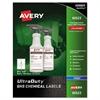 Easy Peel UltraDuty GHS Chemical Labels, Inkjet, 3 1/2 x 5 , 200/Pack