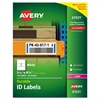 Permanent ID Labels w/TrueBlock Technology, Laser, 3 1/4 x 8 3/8 , 150/Pack